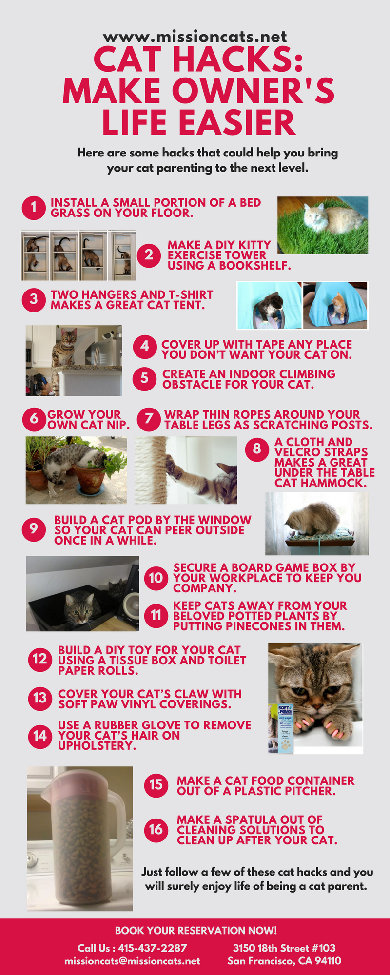 Cat Hacks: Make Owner's life Easier